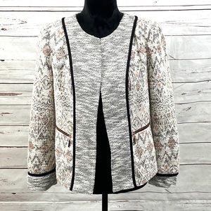 Ivanka Trump Georgia Open Blazer Tweed Size 4
